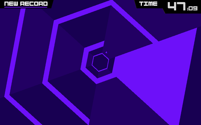 An image of Super Hexagon gameplay. Courtesy of Commons Wikimedia